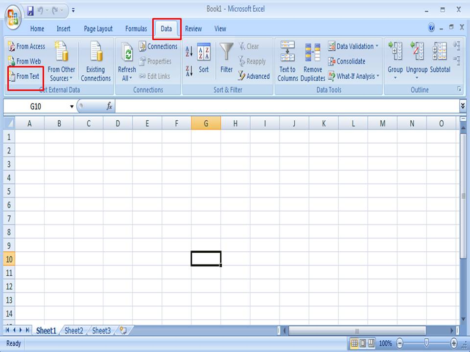 CSV File to Excel - Step 2