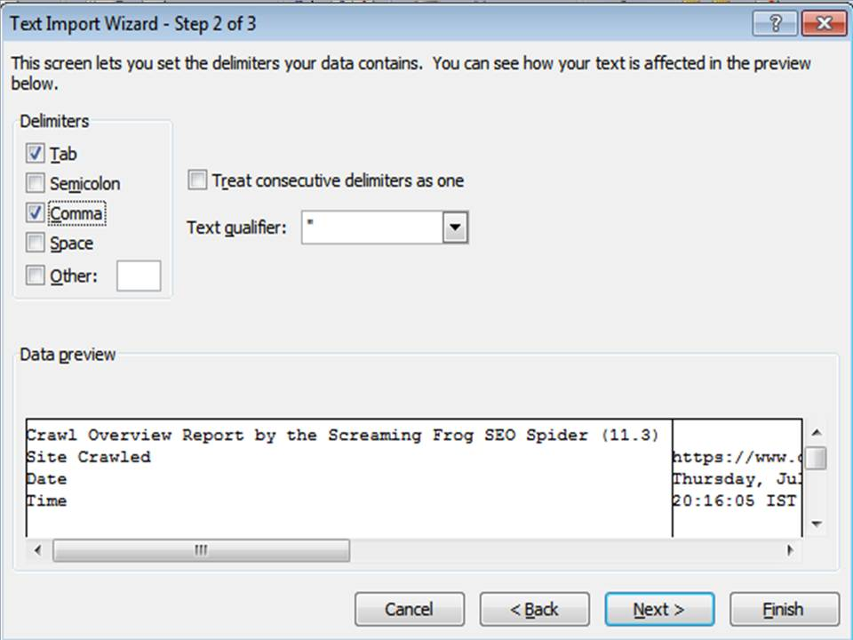 CSV File to Excel - Step 4
