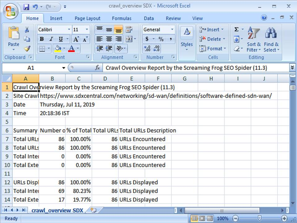 CSV File to Excel - Step 7