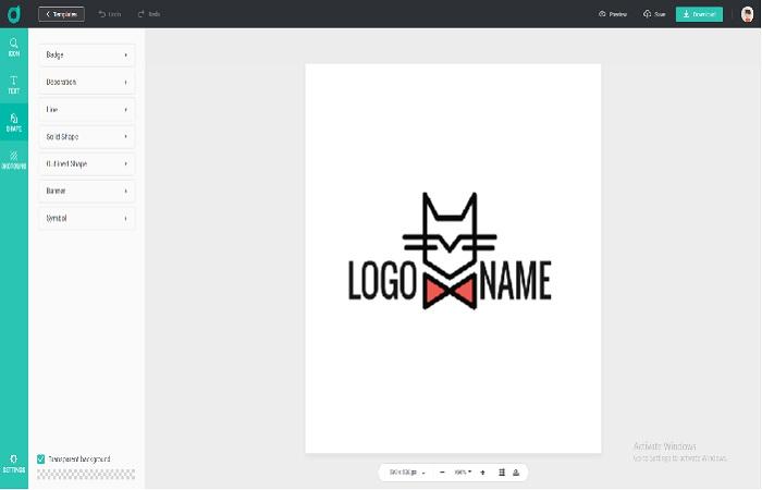 Customize the logo