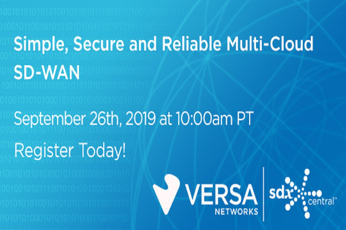 Versa Networks Multi-Cloud SD-WAN Webinar 2019