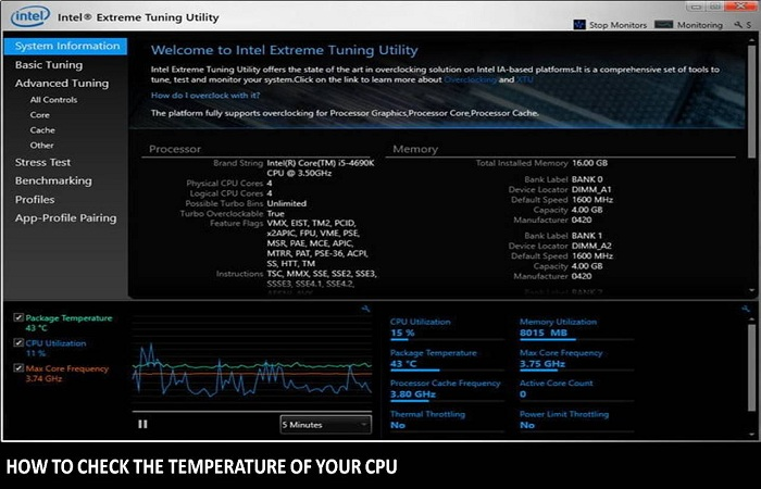 how to check the temperature of your CPU