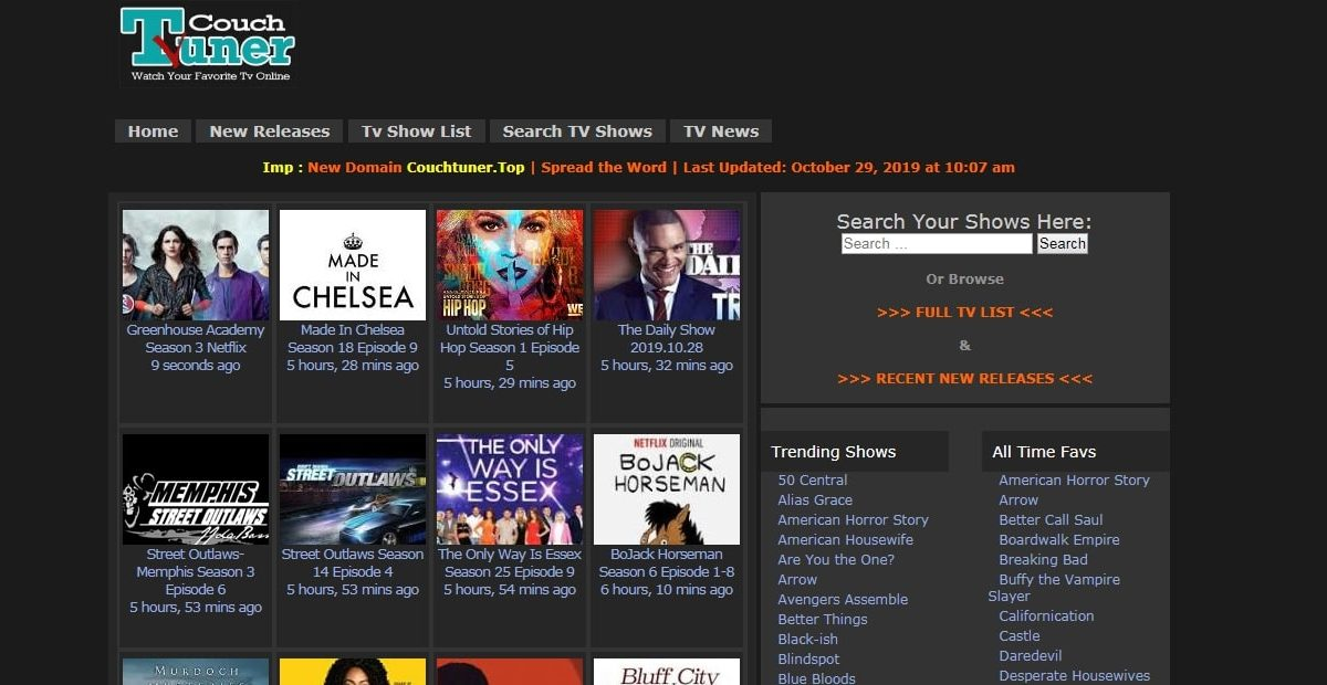 CouchTuner 2020 – Piracy HD Movies Download Website