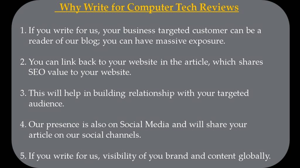 5G Write For Us - Why Write for Computer Tech Reviews