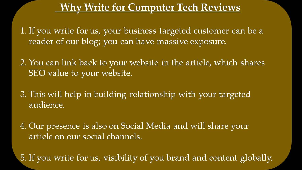 Data Center Write For Us - Why Write for Computer Tech Reviews