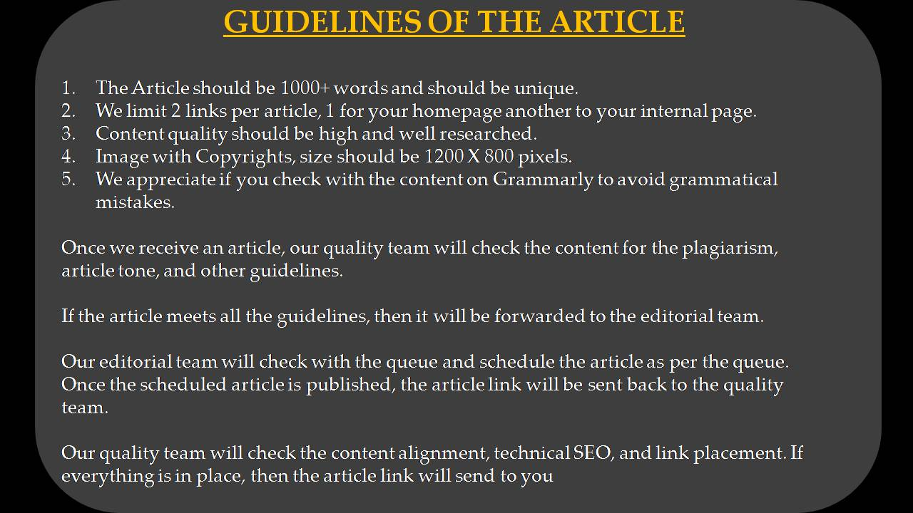 SEO Write For Us - Guidelines of the Article