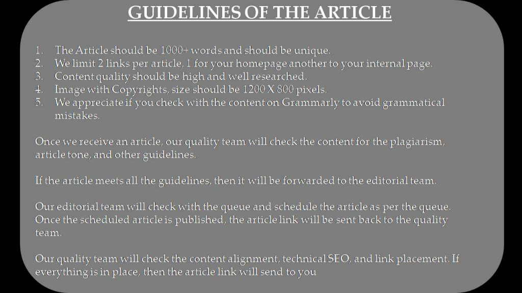 Technology Write for Us - Guidelines of the Article