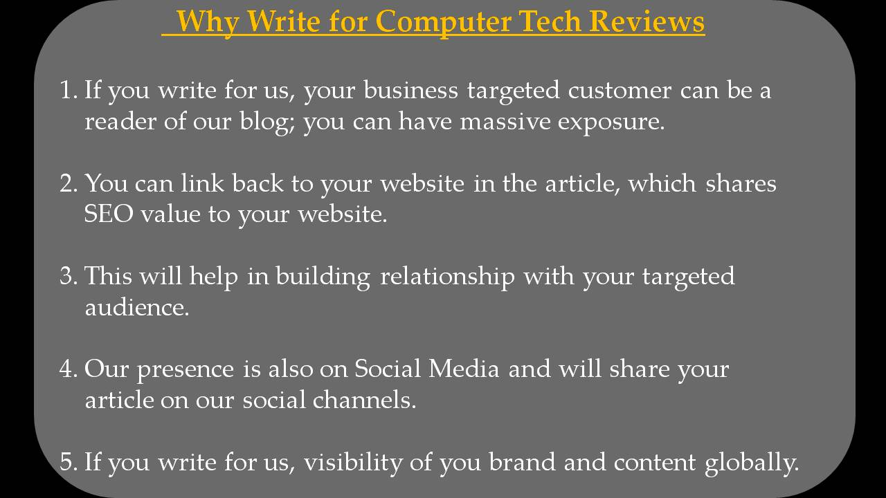 VOIP Write For Us - Why Write for Computer Tech Reviews