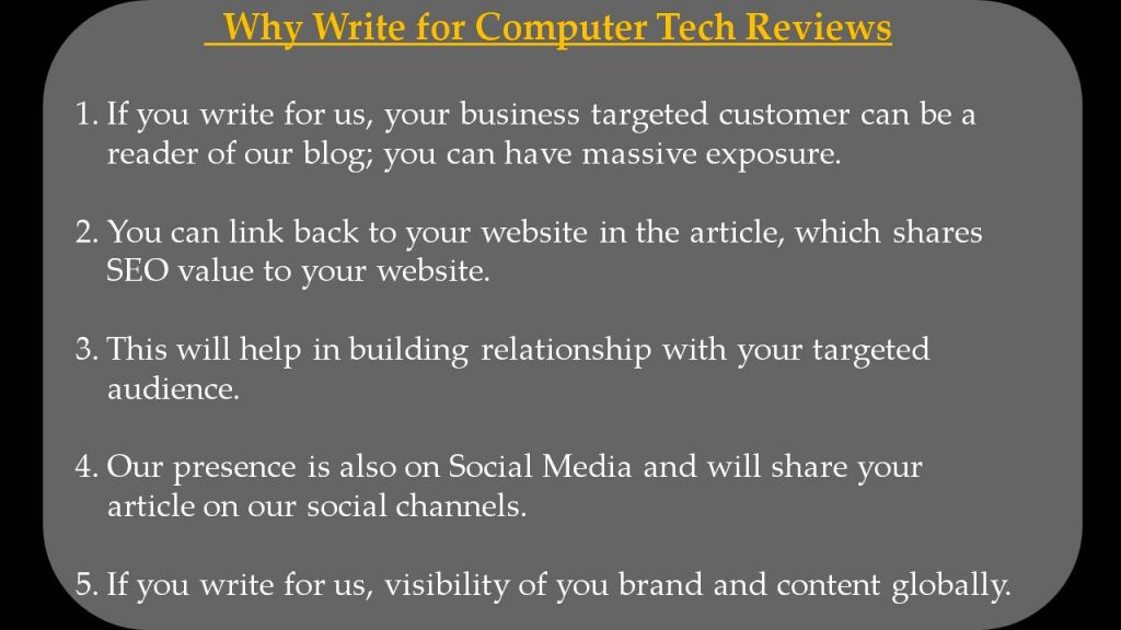 VPN Write For Us - Why Write for Computer Tech Reviews
