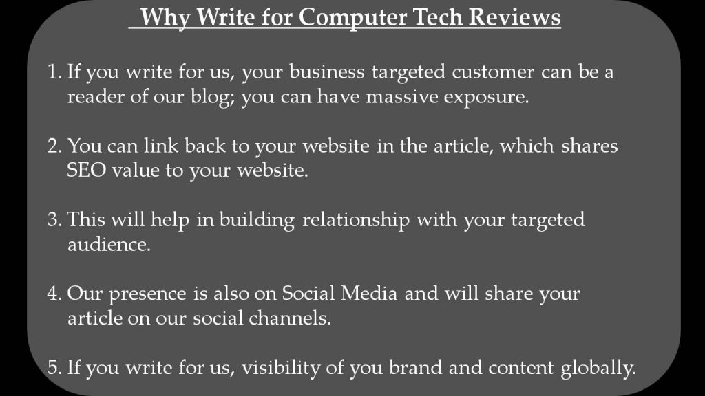 ios apps write for us - Why Write for Computer Tech Reviews