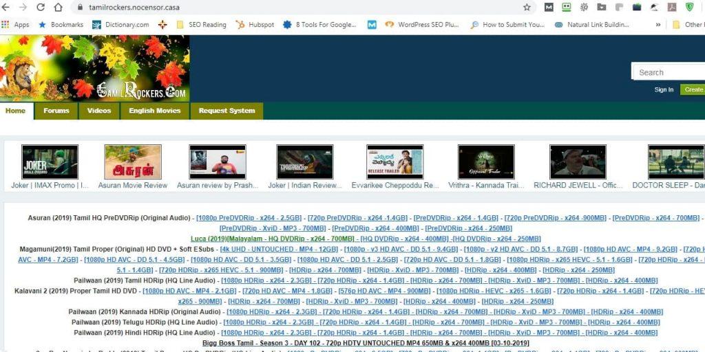 tamilrockers.nocensor.casa working with ZenMate