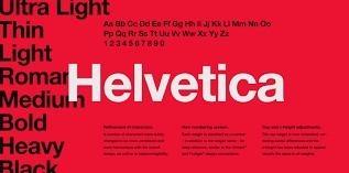 Overused Font 1 - Helvetica
