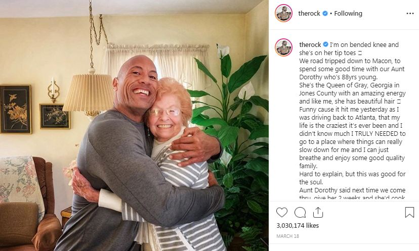 The Rock with her Aunt Dorothy