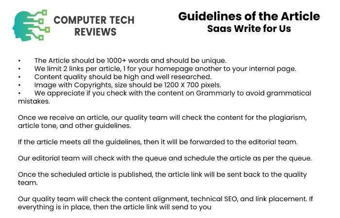Guidelines of the Article Saas Write for Us