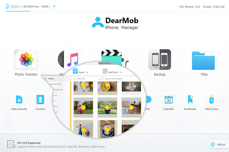 Key features of DearMob iPhone Manager