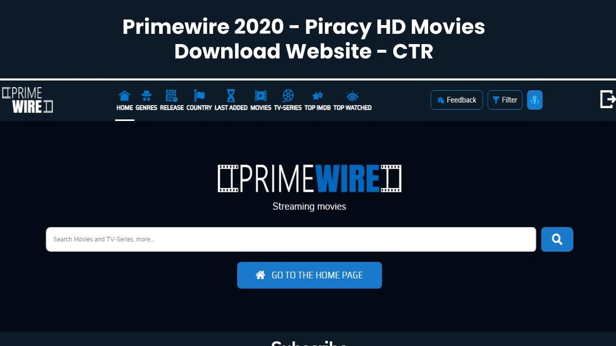 Primewire 2020 – Piracy HD Movies Download Website – CTR
