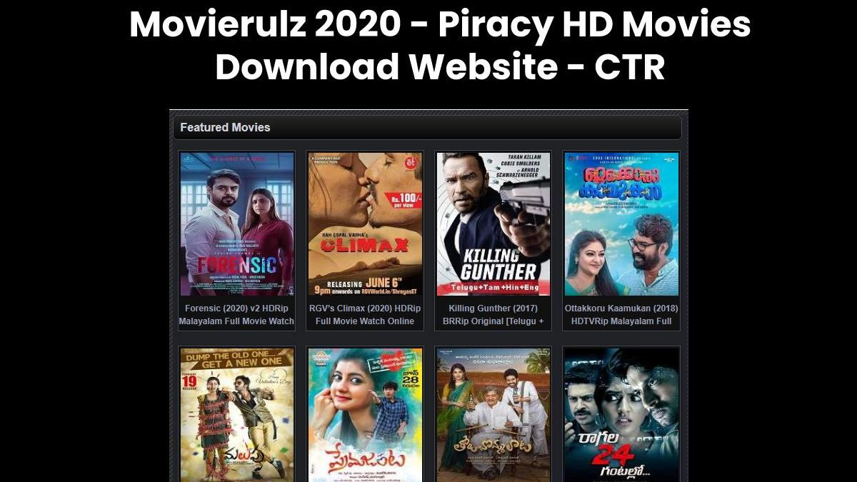 Movierulz 2020 – Top 20 Movierulz Alternatives to Watch and Download Movies