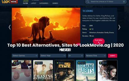 Top 10 Best Alternatives, Sites to LookMovie.ag   2020