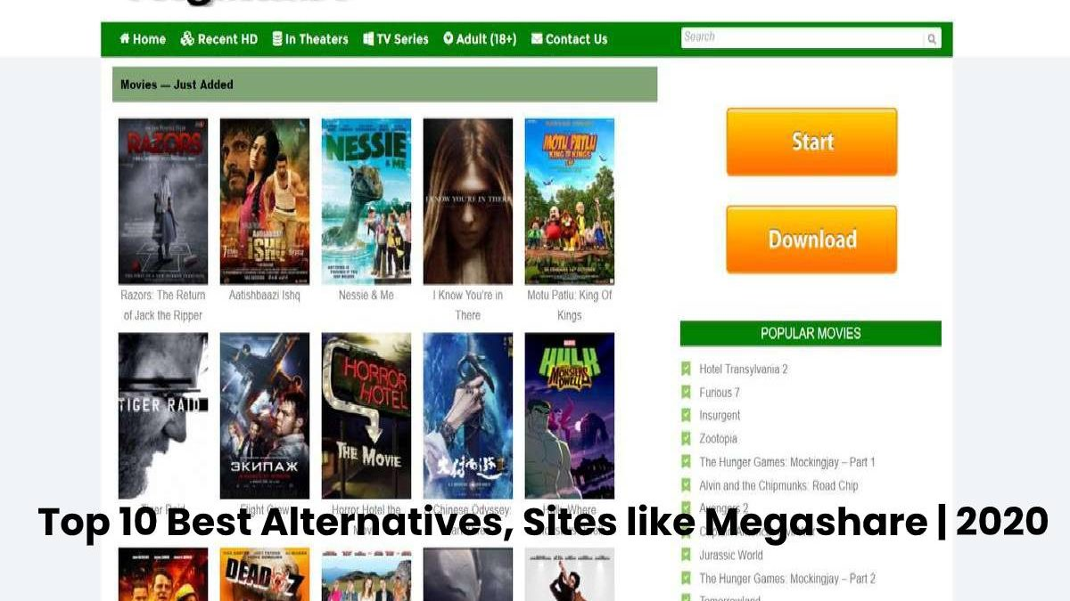 Megashare 2020 – Piracy HD Movies Download Website