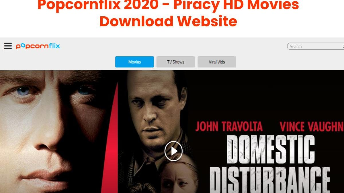 Popcornflix 2020 – Piracy HD Movies Download Website