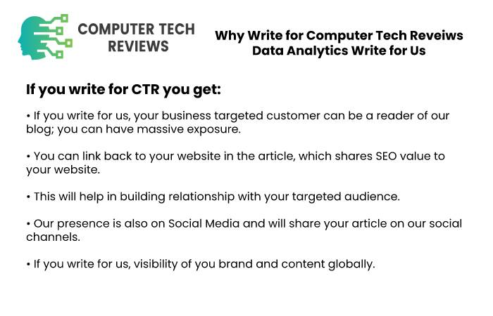 Why Write for Computer Tech Reveiws - Data Analytics Write for Us