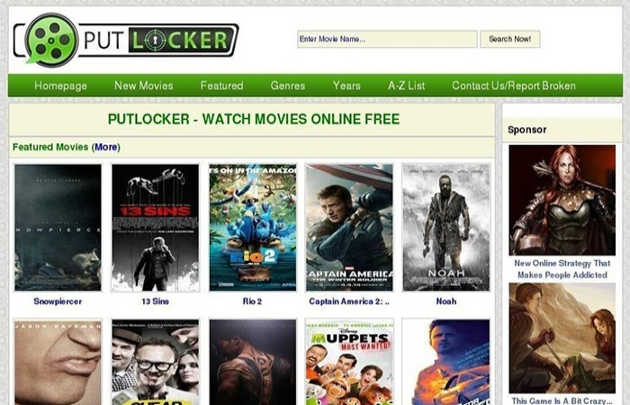 image result for putlocker - Gomovies