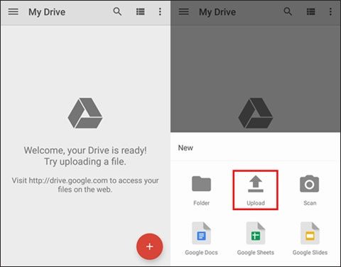 Download Files from Google Drive to the New Phone