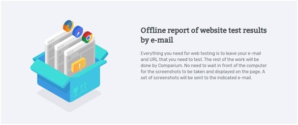 Offline report of website