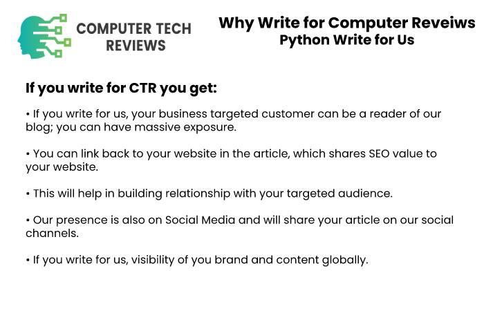 Why Write for Computer Tech Reveiws - Python