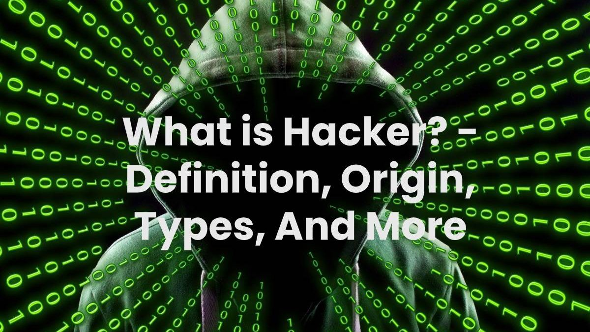 What is Hacker? – Definition, Origin, Types, And More