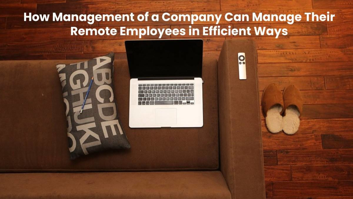 How Management of a Company Can Manage Their Remote Employees in Efficient Ways