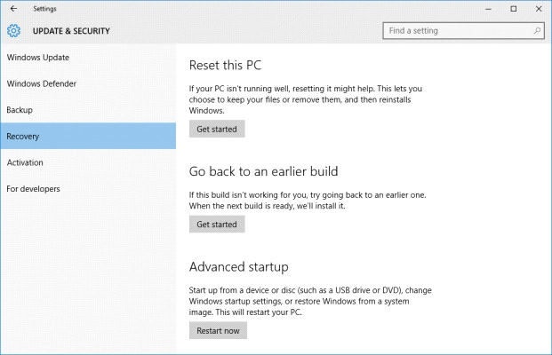 Using Factory Reset Step 3