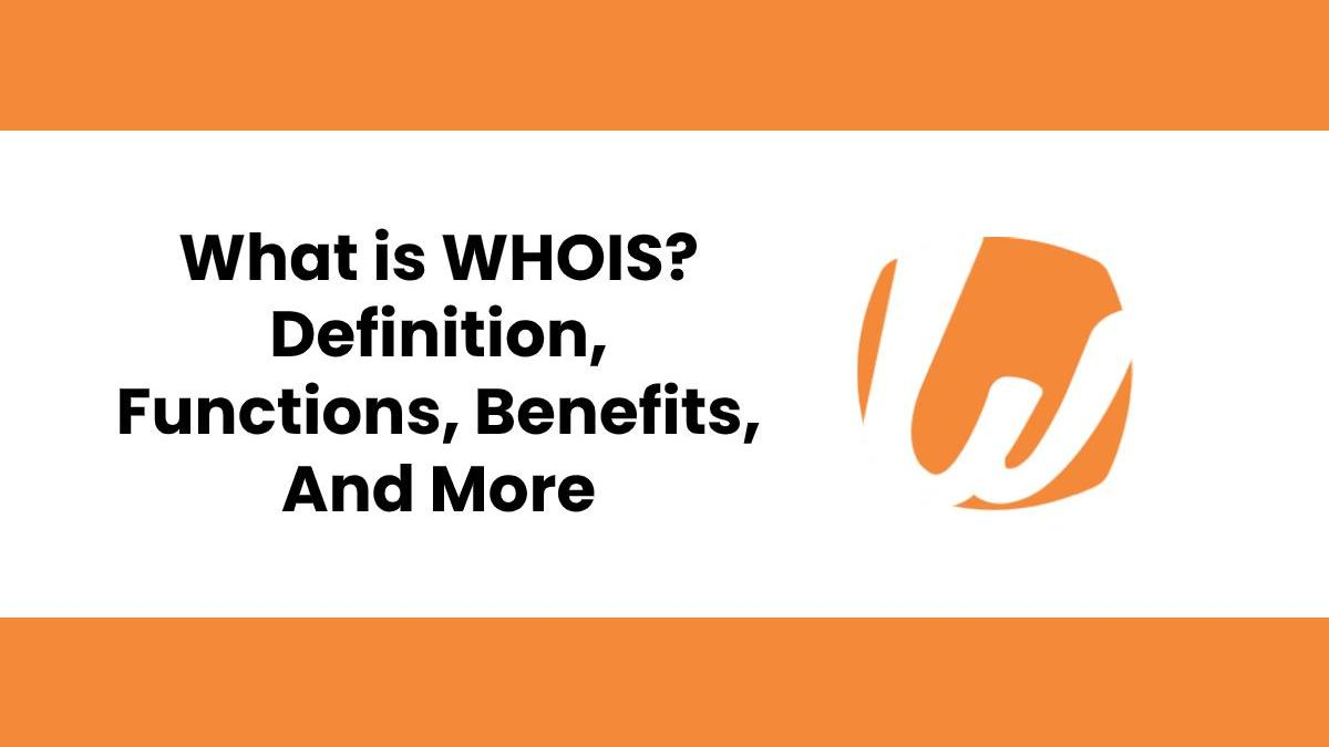 What is WHOIS? – Definition,  Functions, Benefits, And More