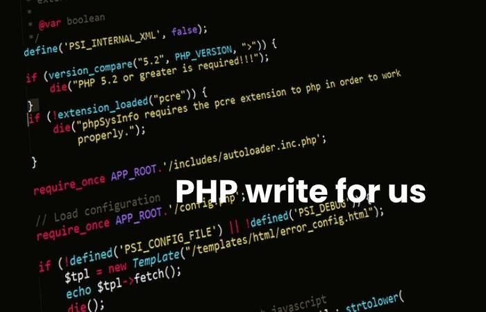 PHP write for us image
