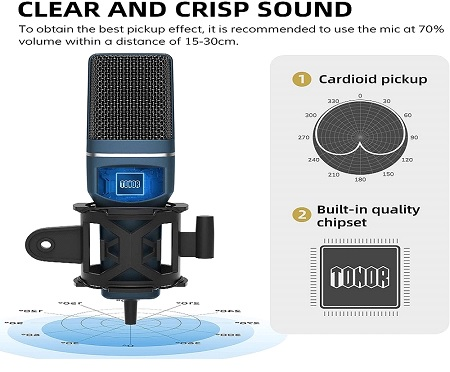 Features of TONOR TC-777 Microphone 1