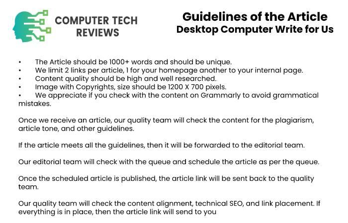 Guidelines Desktop Computer