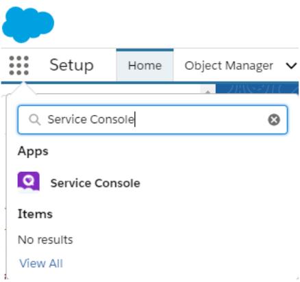 Service Console app