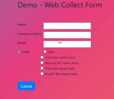 Web collect