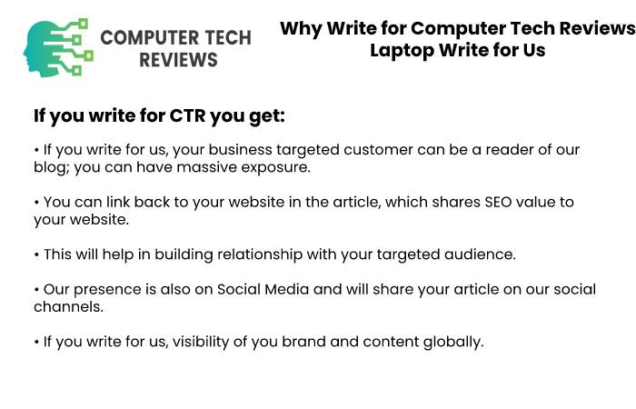 Why Write for CTR Laptop