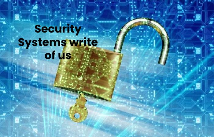 Security Systems write of us