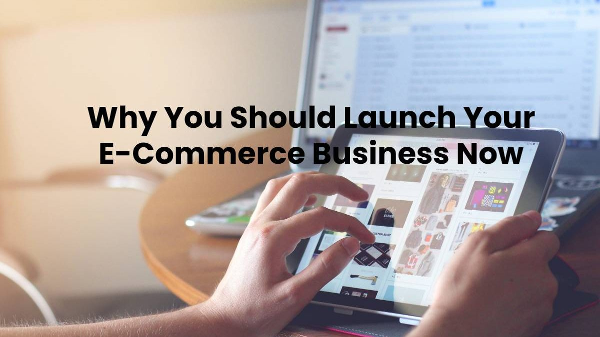 Why You Should Launch Your E-Commerce Business Now