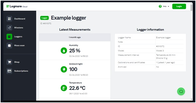 Track temperature conditions information of products in-transit