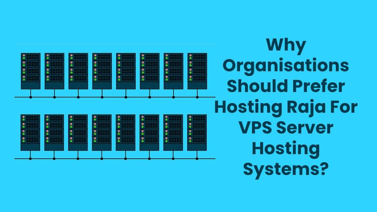 Why Organisations Should Prefer Hosting Raja For VPS Server Hosting Systems?