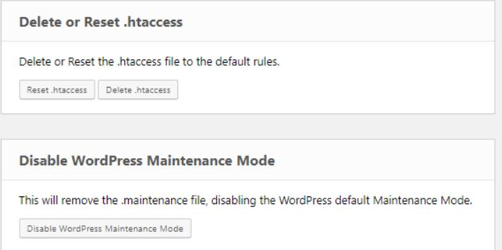 Delete or Reset .htaccess