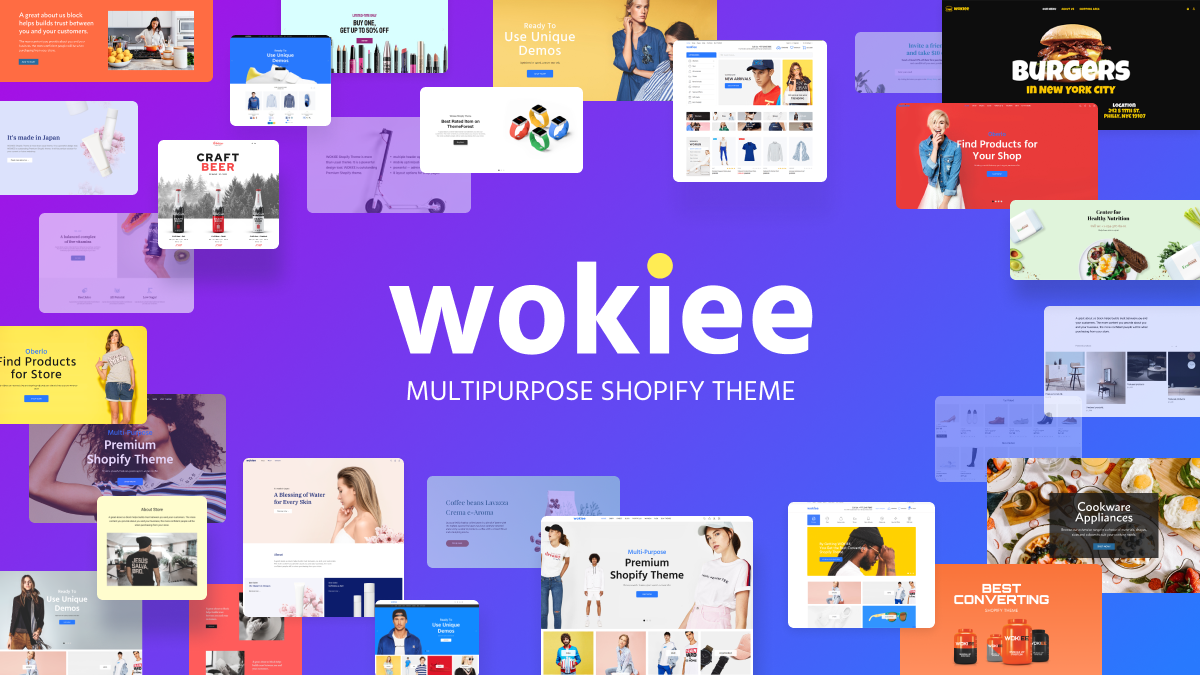 Wokiee Multipurpose Shopify Theme – More Than Just A Theme