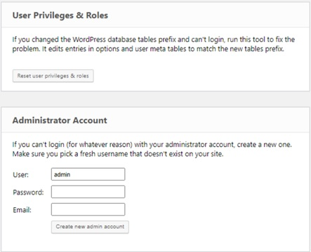 User Privileges &Roles