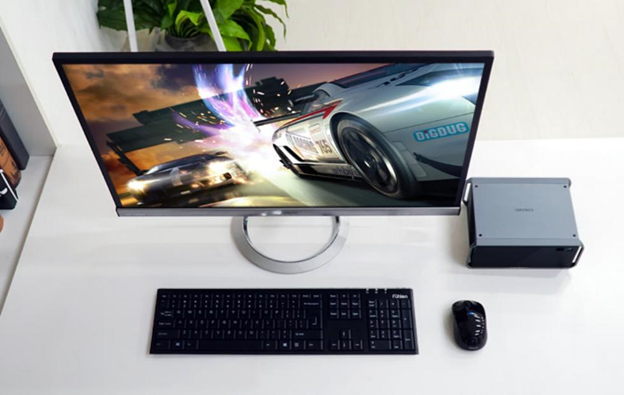 Consider buying a wireless keyboard and mouse to save on desk space