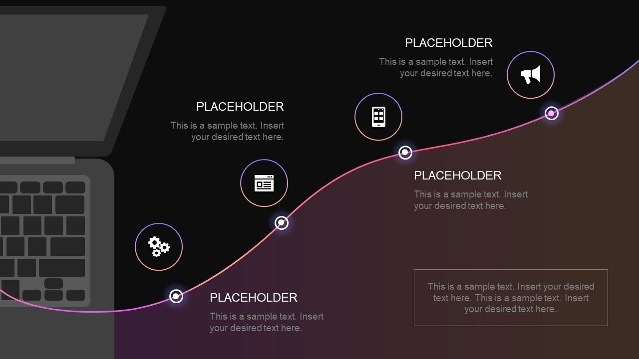 Four-Step Technology Roadmap PowerPoint Template