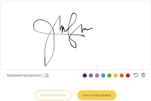 Add your unique email signature 1