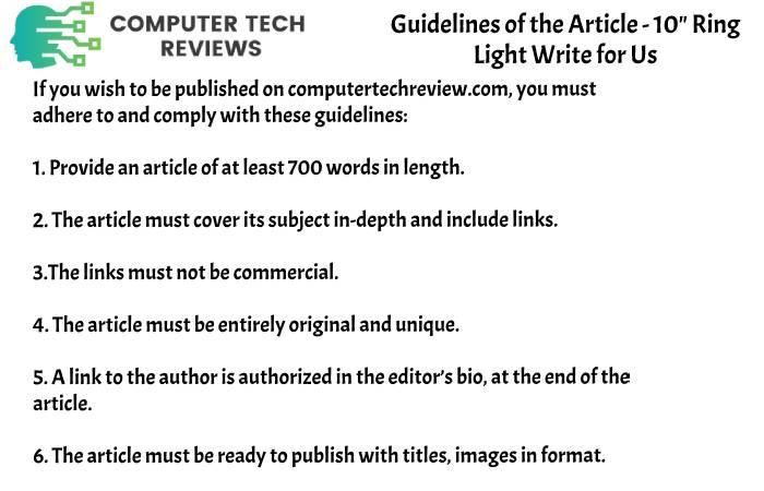 guidelines CTR write for Ring light